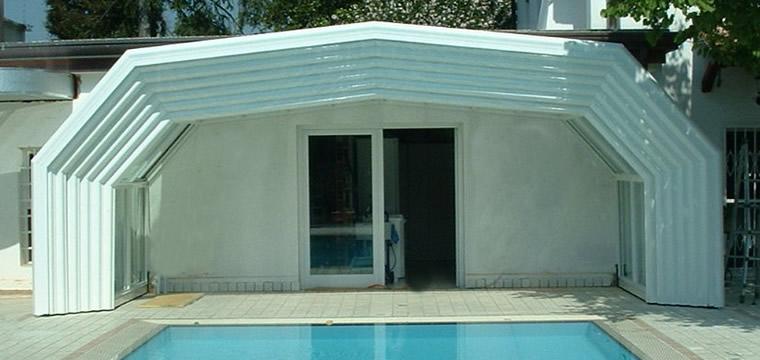 Vendita coperture telescopiche per piscine ristoranti coperture mobili coperture fisse del - Coperture mobili per piscine ...